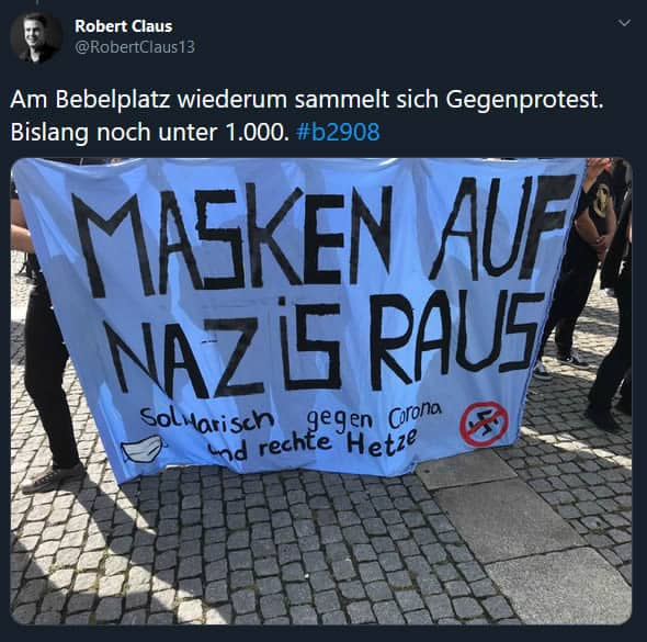 Antifa Tweet Corona Demo