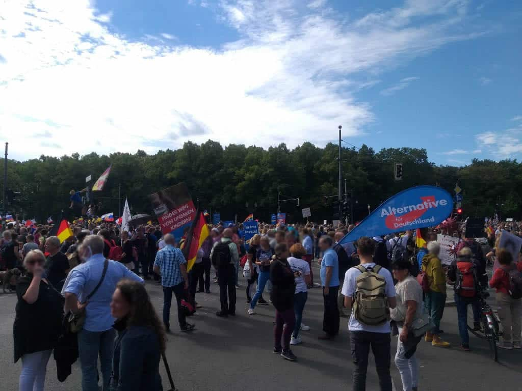 Corona Demo - AfD vor Ort