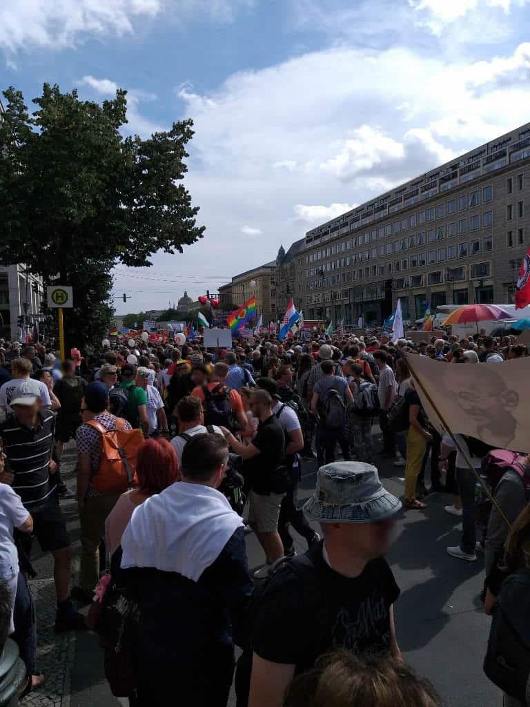 Viele Teilnehmer bei Corona-Demo
