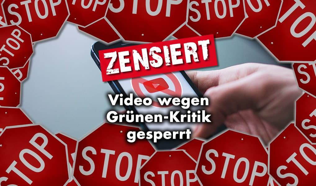 Video wegen Grünen-Kritik gesperrt