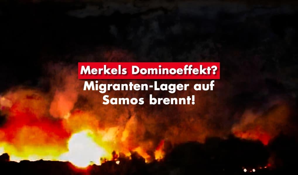 Migranten-Lager auf Samos brennt!