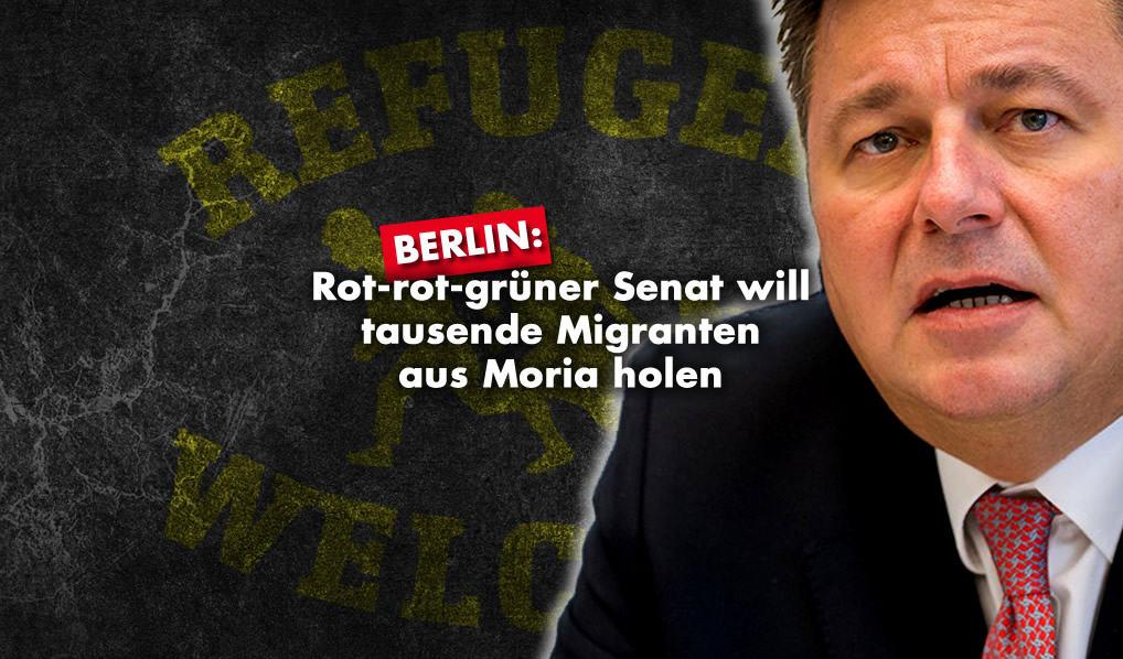 Rot-rot-grüner Senat will tausende Migranten aus Moria holen