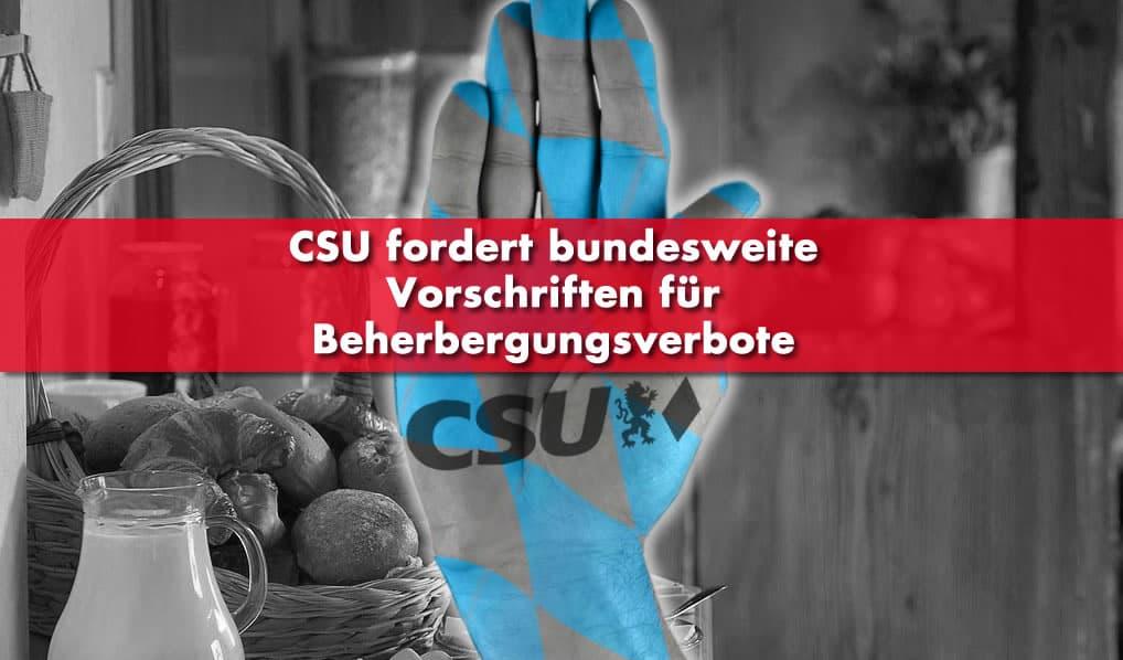 CSU Beherbergungsverbote