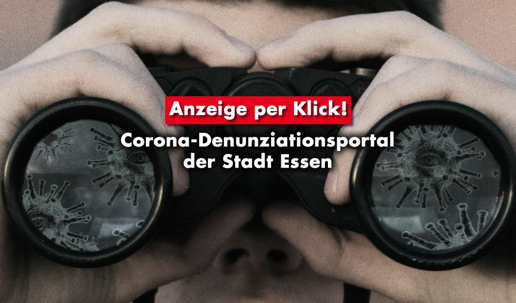 Essen: Corona-Denunziationsportal