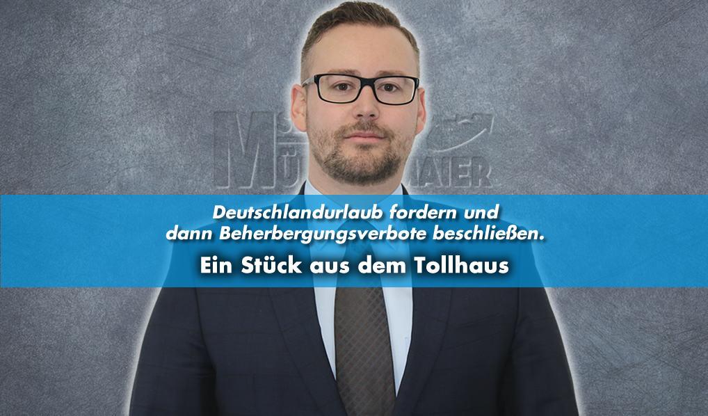 Münzenmaier kritisiert Beherbergungsverbot