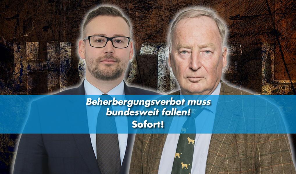 Münzenmaier - Gauland: Beherbergungsverbot