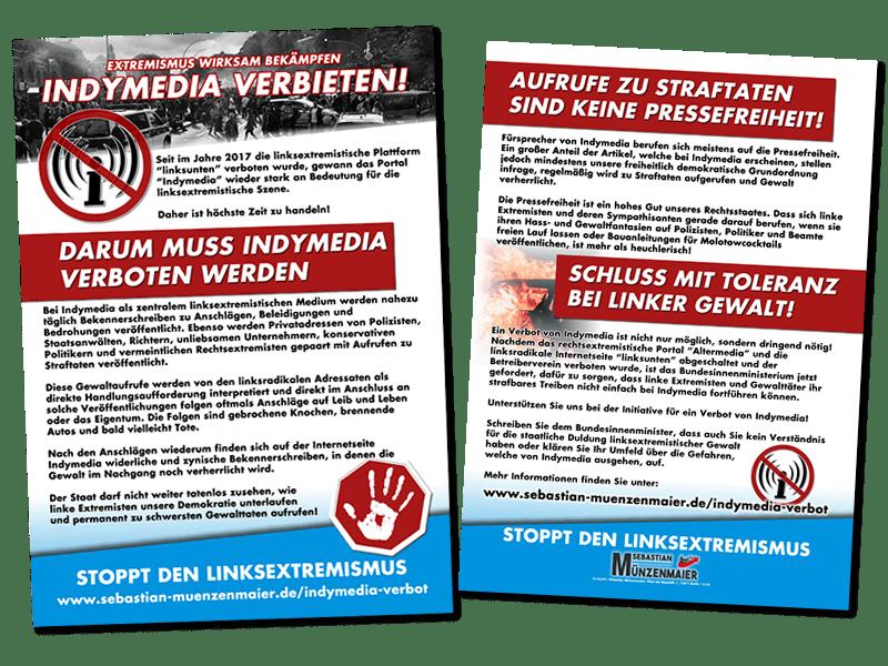 Indymedia Verbot - Flugblätter