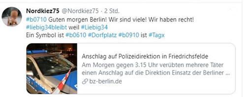 Unterstützung für Anschläge - Liebig34