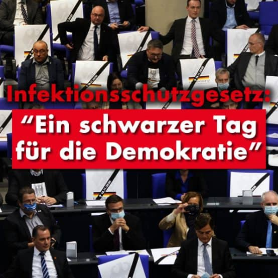 Infektionsschutzgesetz: Ein schwarzer Tag für die Demokratie