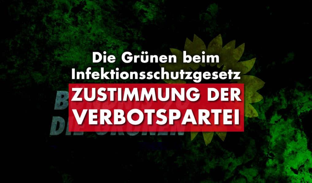 Zustimmung der Verbotspartei Die Grünen