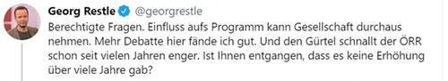 Twitter: Georg Restle schwingt die Nazikeule