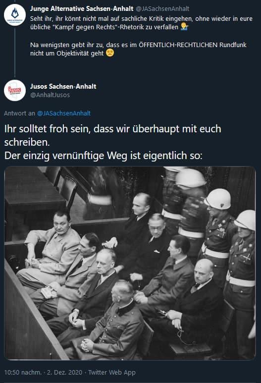 Menschenverachtender Tweet der Jusos Sachsen-Anhalt
