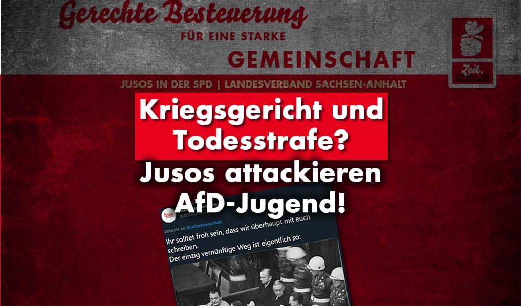 Jusos Sachsen-Anhalt attackieren Junge Alternative