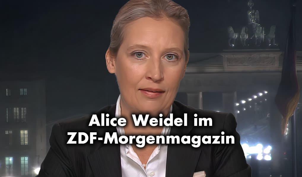 Alice Weidel im ZDF-Morgenmagazin