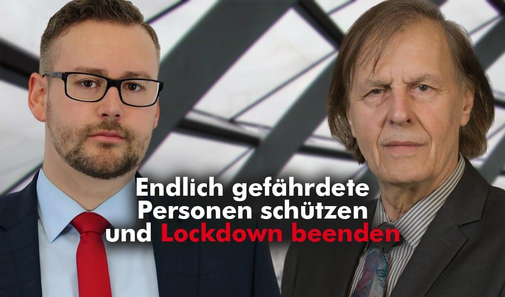 Endlich gefährdete Personen schützen und Lockdown beenden