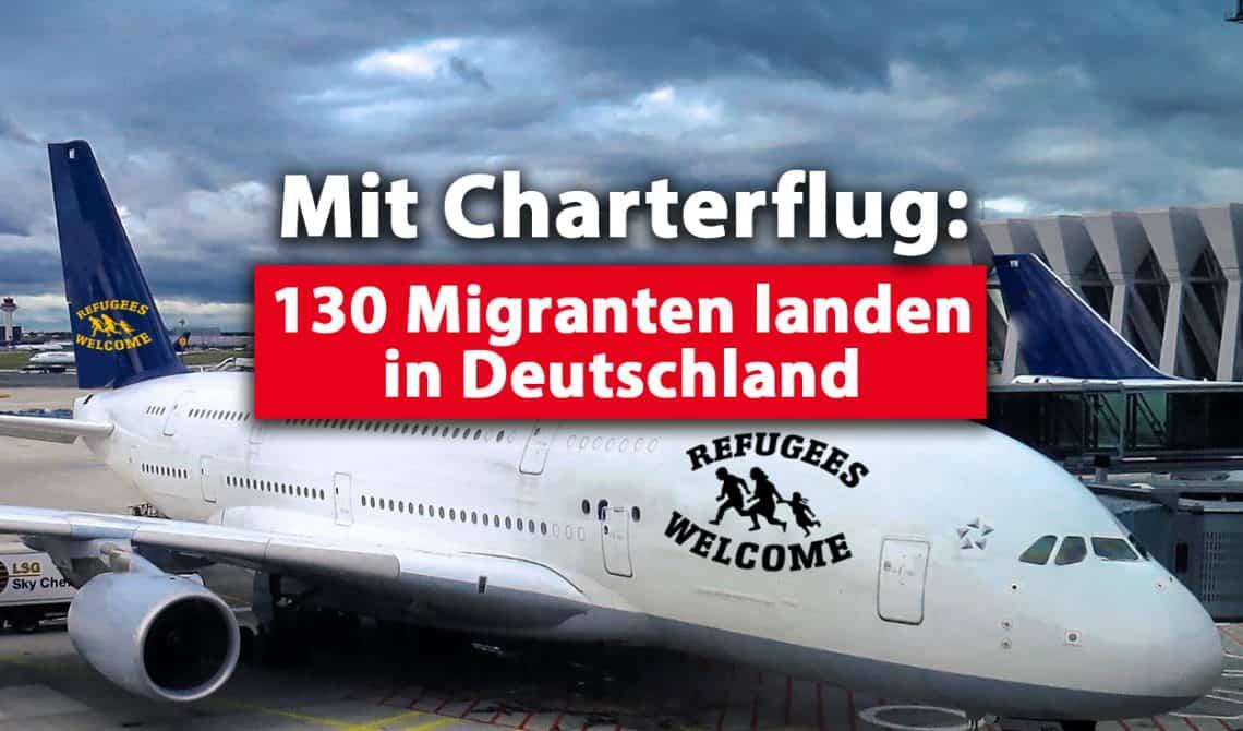 Mit Charterflug aus Griechenland: 130 Migranten landen in Deutschland