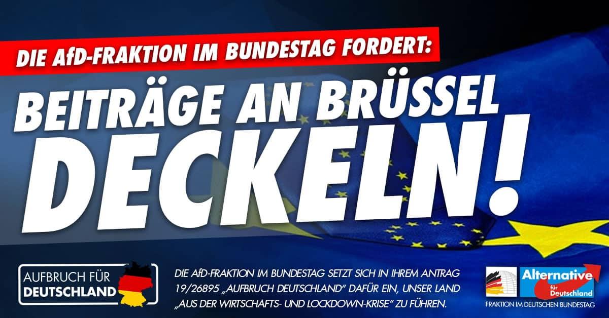 Aufbruch für Deutschland - Beiträge an Brüssel deckeln