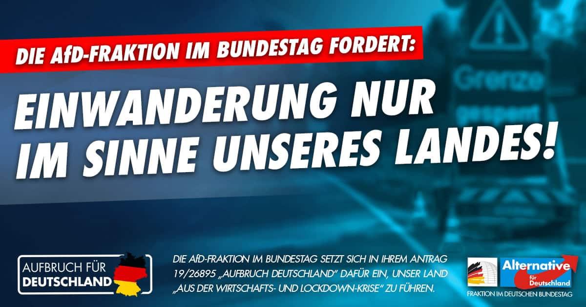 Aufbruch für Deutschland - Einwanderung nur im Sinne unseres Landes