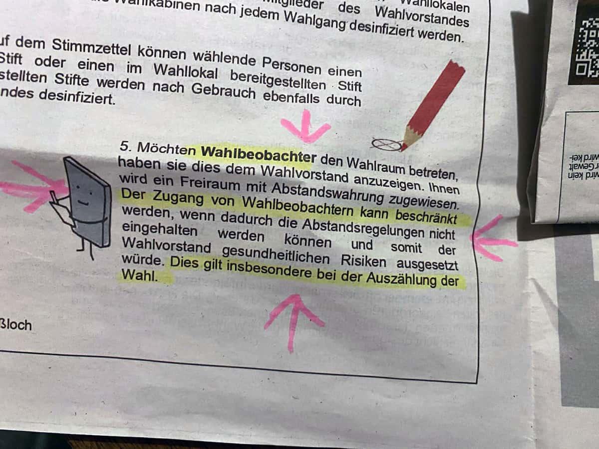 Bürgerblatt Hassloch - Eingeschränkte Wahlbeobachtung