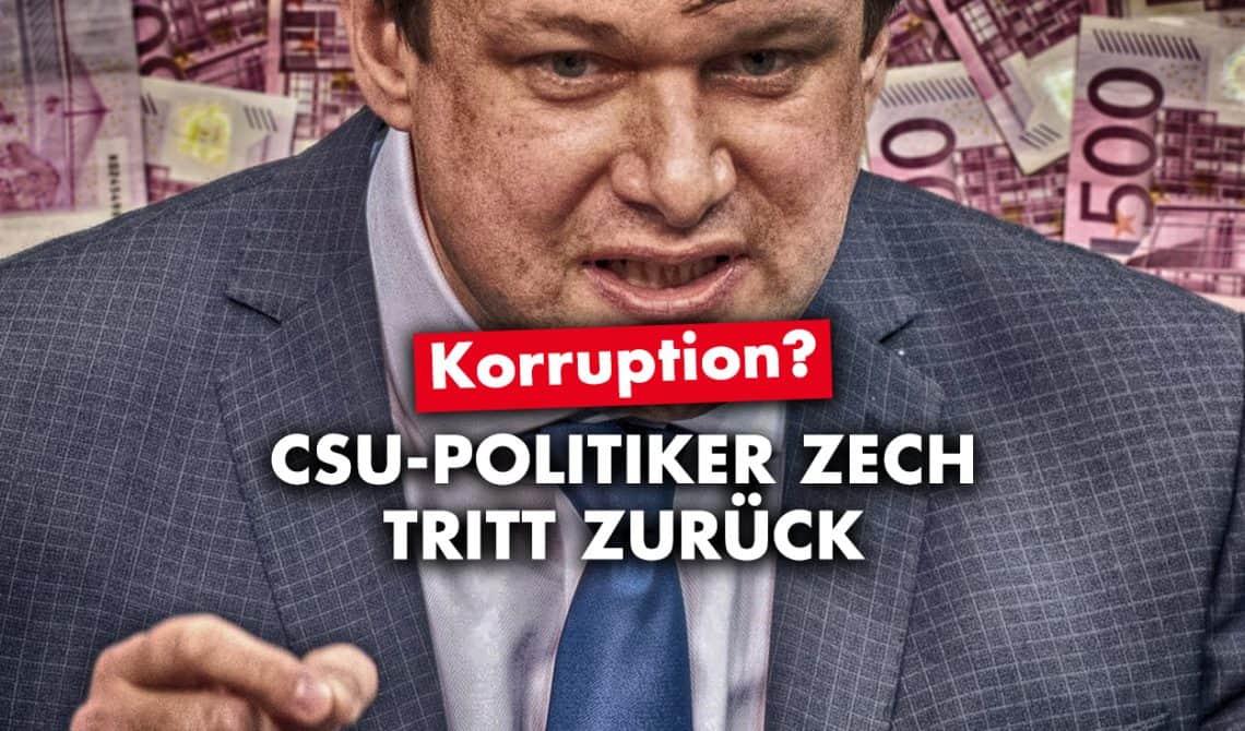 Korruption? CSU-Politiker Zech tritt wegen Nebenverdiensten zurück