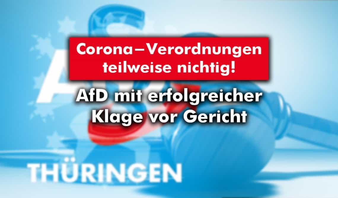 AfD Thüringen mit erfolgreicher Klage vor Gericht
