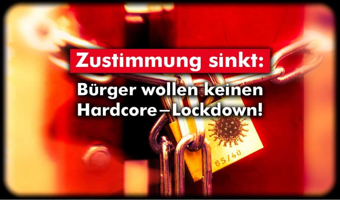 Zustimmung sinkt: Bürger wollen keinen Lockdown