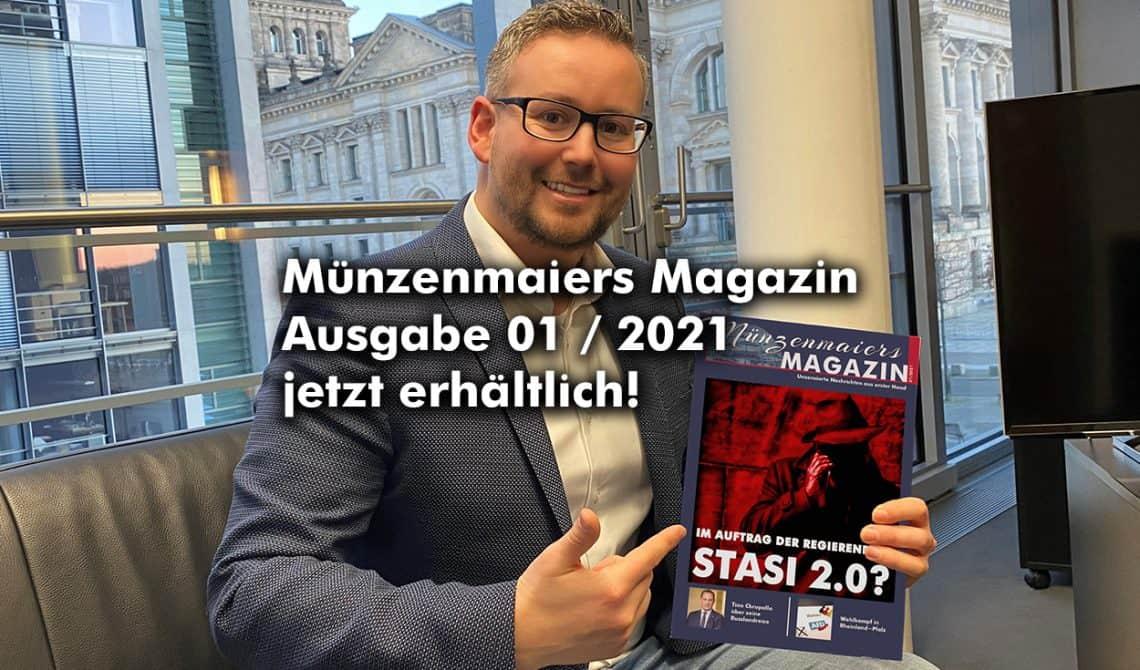Münzenmaiers Magazin - Ausgabe 01/2021 jetzt erhältlich!