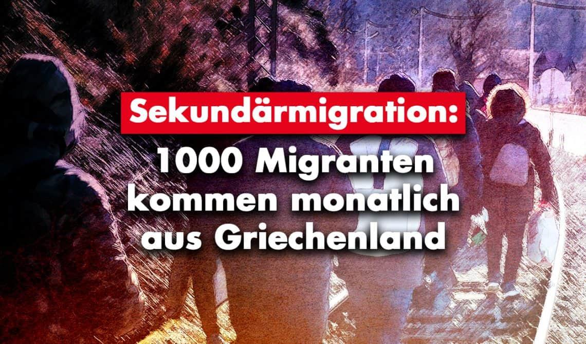 Sekundärmigration: 1000 Migranten kommen monatlich aus Griechenland