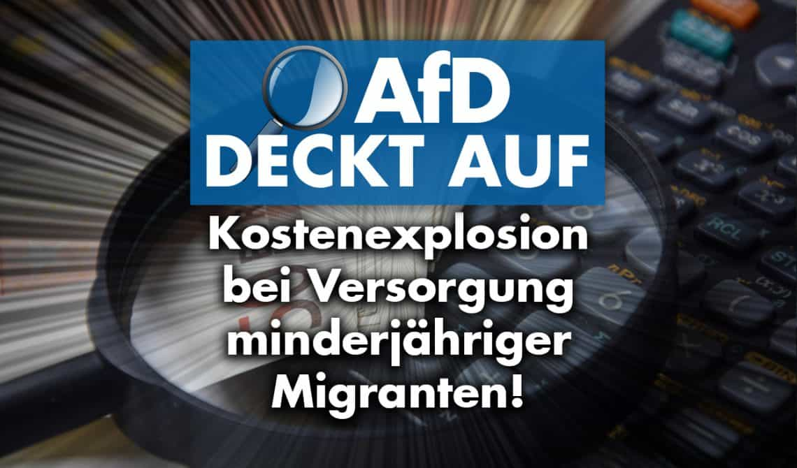 AfD deckt auf: Kostenexplosion bei Versorgung minderjähriger Migranten
