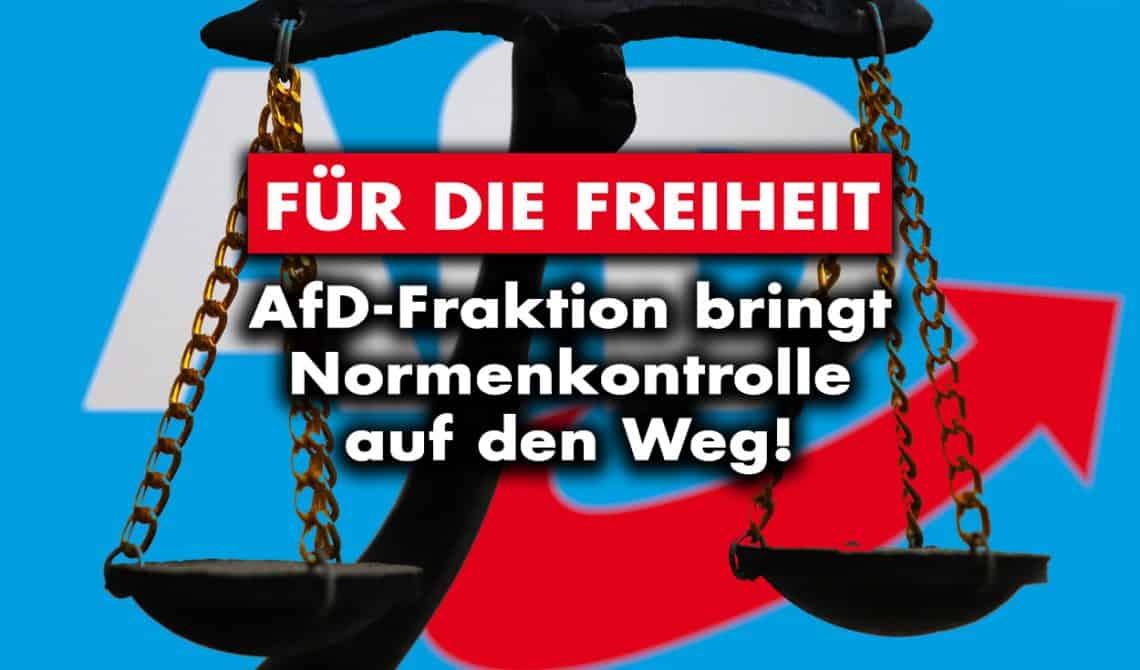 Für die Freiheit: AfD-Fraktion bringt Normenkontrolle auf den Weg!