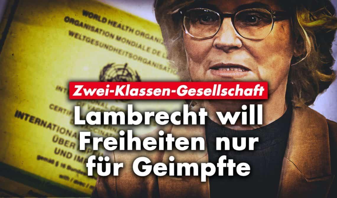 Zwei-Klassen-Gesellschaft: Lambrecht will Freiheiten nur für Geimpfte