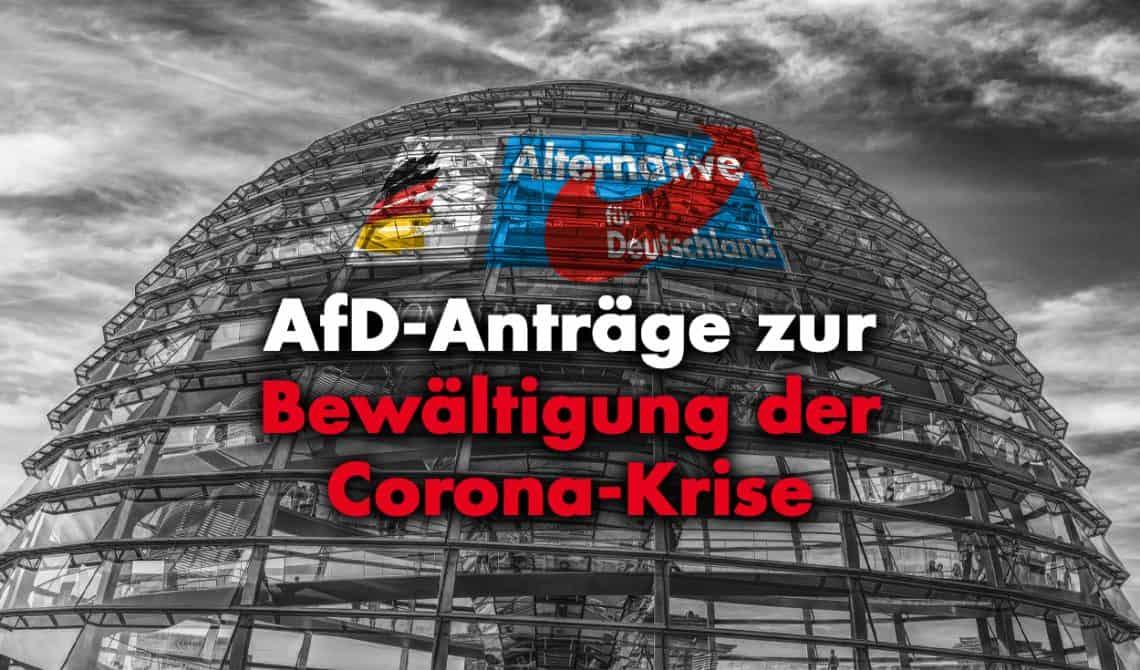 AfD-Anträge zur Bewältigung der Corona-Krise