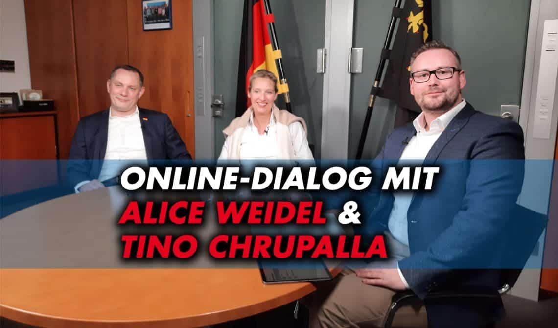 Online-Dialog mit Alice Weidel und Tino Chrupalla