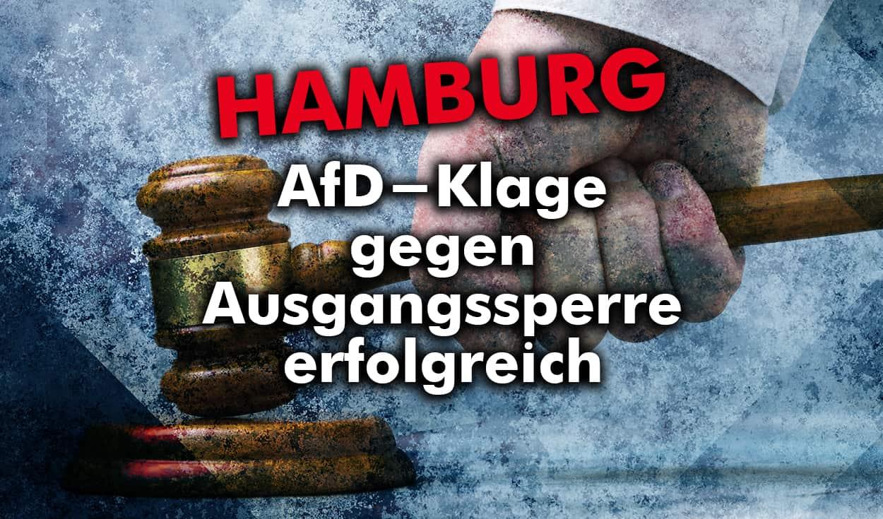 Hamburg: AfD-Klage gegen Ausgangssperre erfolgreich