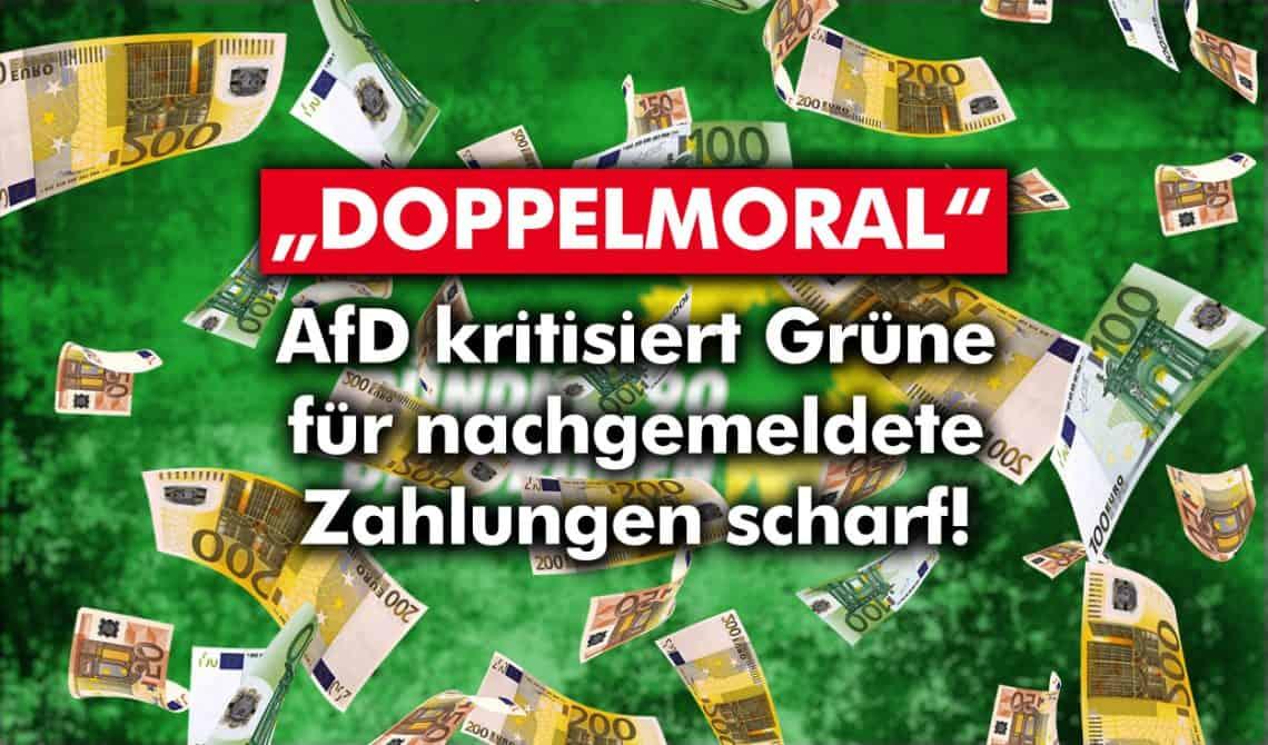 """""""Doppelmoral"""": AfD kritisiert Grüne für nachgemeldete Zahlungen scharf"""