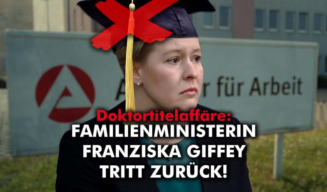 Doktortitelaffäre: Familienministerin Franziska Giffey tritt zurück