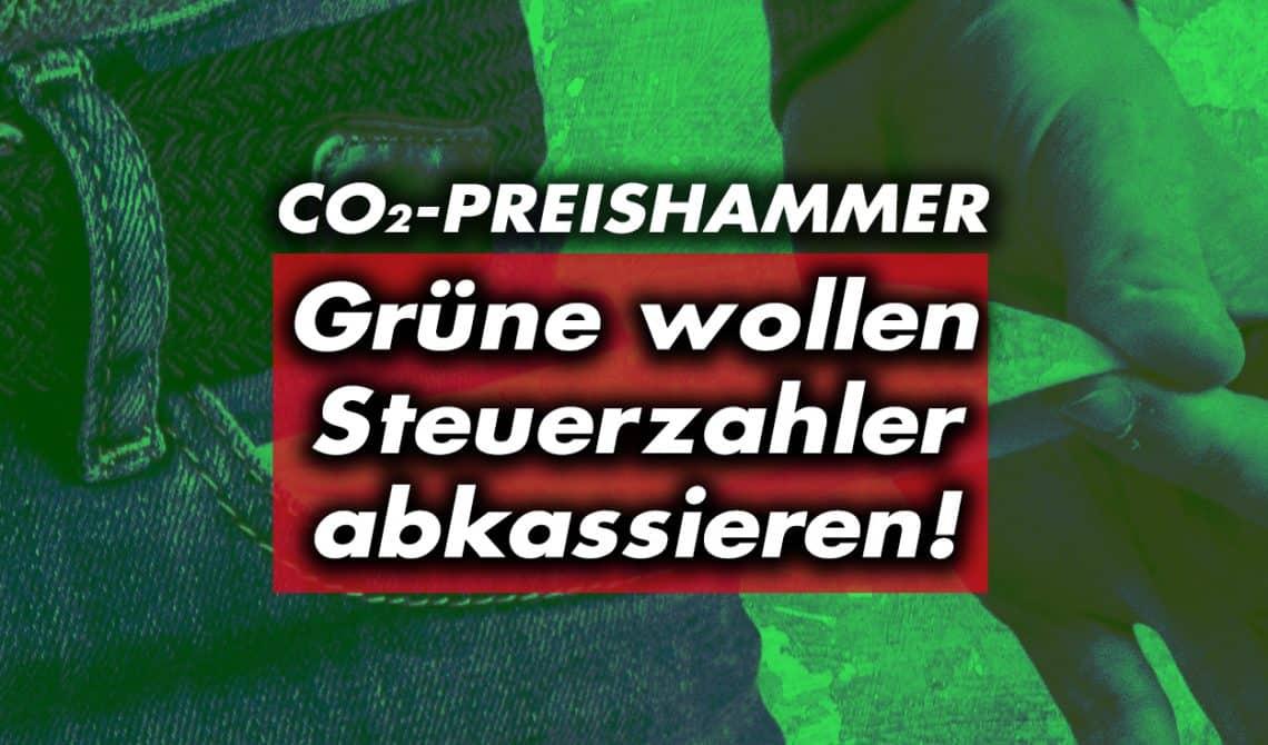 60 Euro CO2 -Preishammer: Grüne wollen Steuerzahler abkassieren!