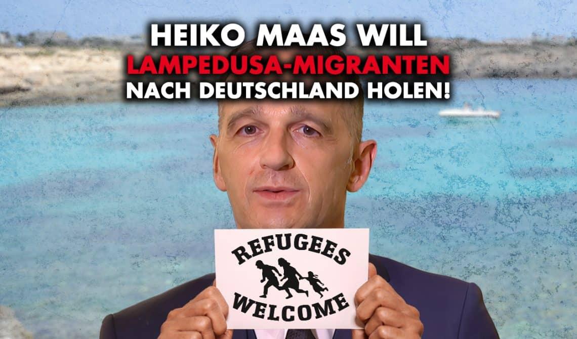 Lampedusa-Migranten: Außenminister Maas stellt Aufnahme in Aussicht