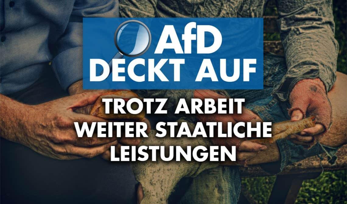 AfD deckt auf: Trotz Arbeit weiter staatliche Leistungen