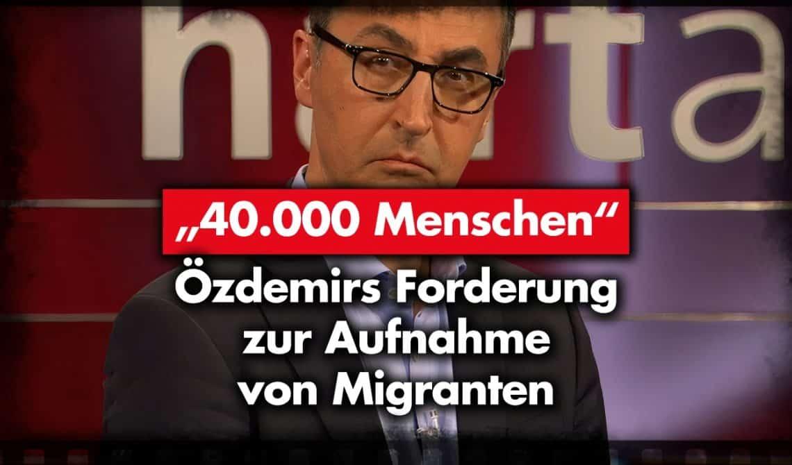"""""""40.000 Menschen"""" – Özdemirs Forderung zur Aufnahme von Migranten"""