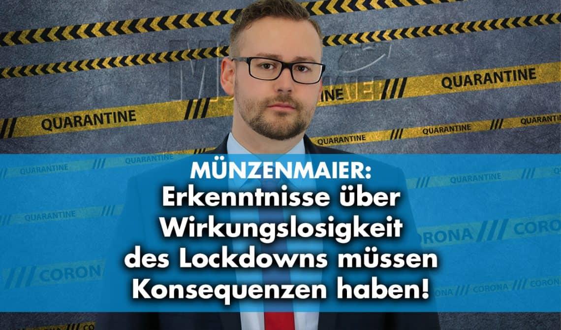 Erkenntnisse über Lockdown-Wirkungslosigkeit müssen Konsequenzen haben
