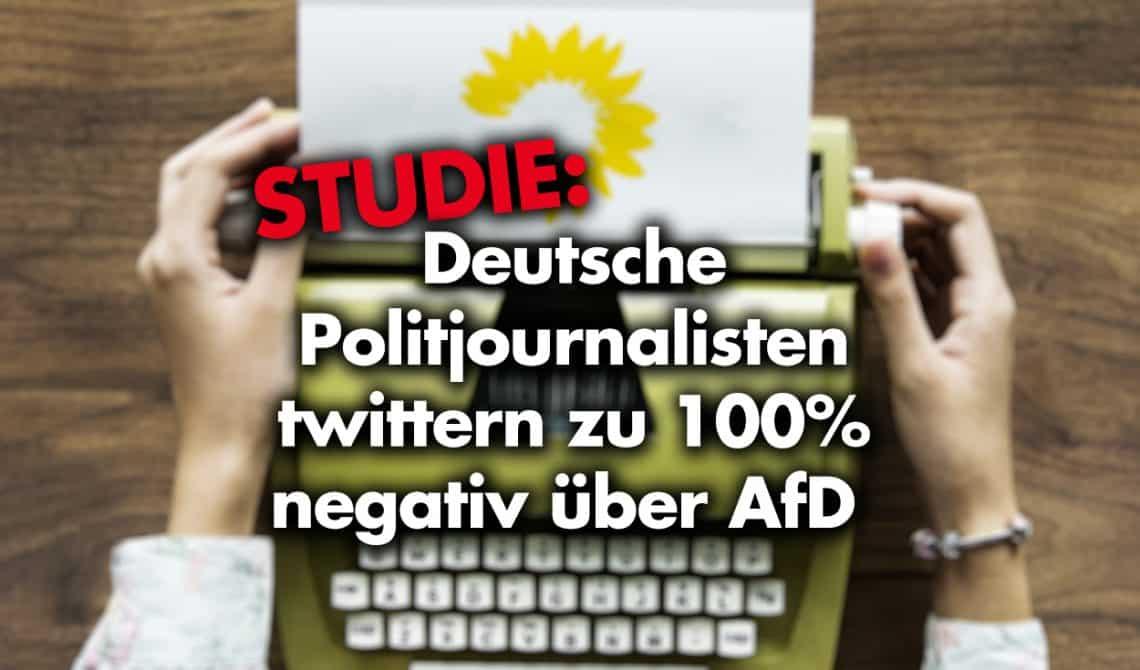 Studie: Deutsche Politjournalisten twittern zu 100% negativ über AfD