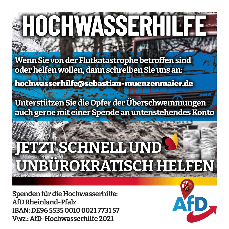 AfD Hochwasserhilfe