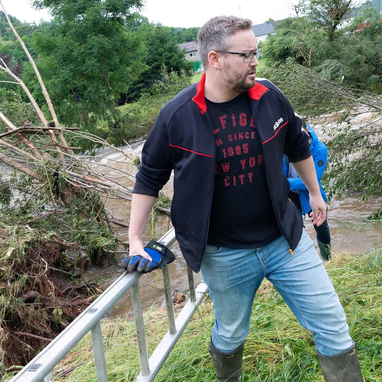 Sebastian Münzenmaier Hochwasserhilfe
