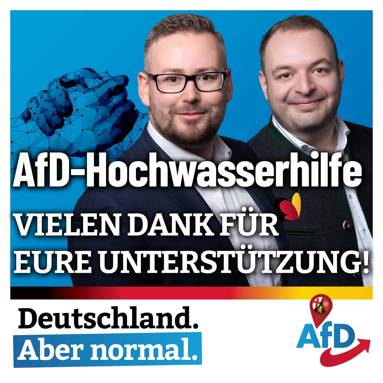AfD Hochwaserhilfe - Danke