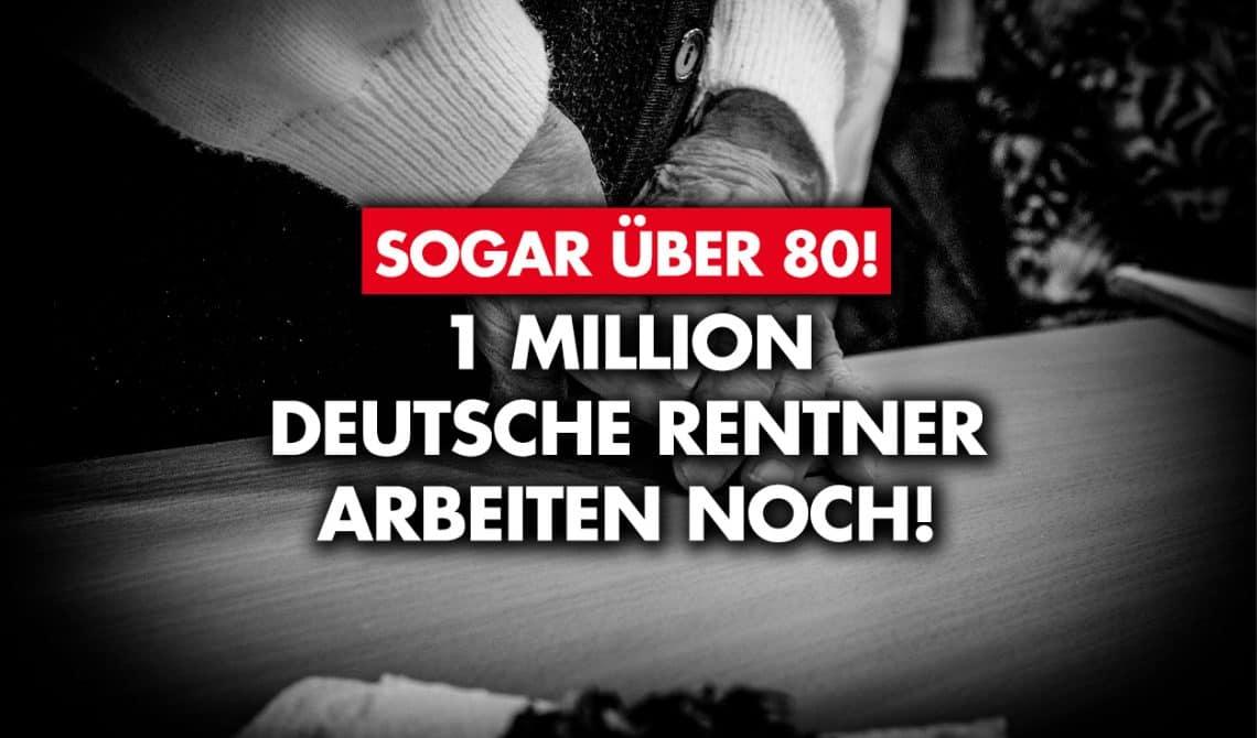 Sogar über 80: Eine Million deutsche Rentner arbeiten noch