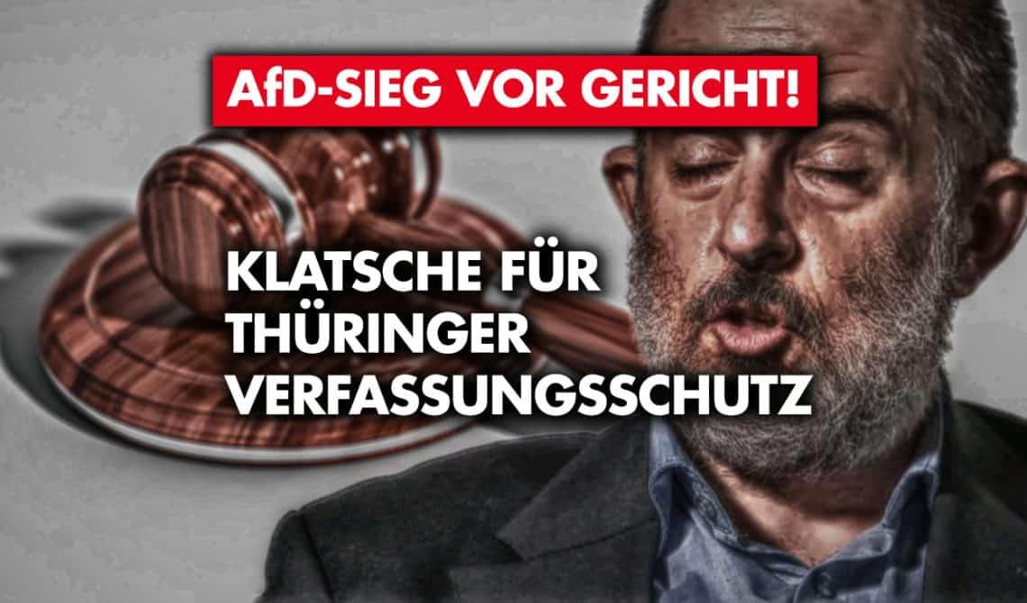AfD-Sieg vor Gericht: Klatsche für Thüringer Verfassungsschutz