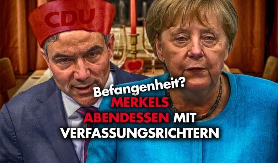 Befangenheit? Merkels Abendessen mit Verfassungsrichtern