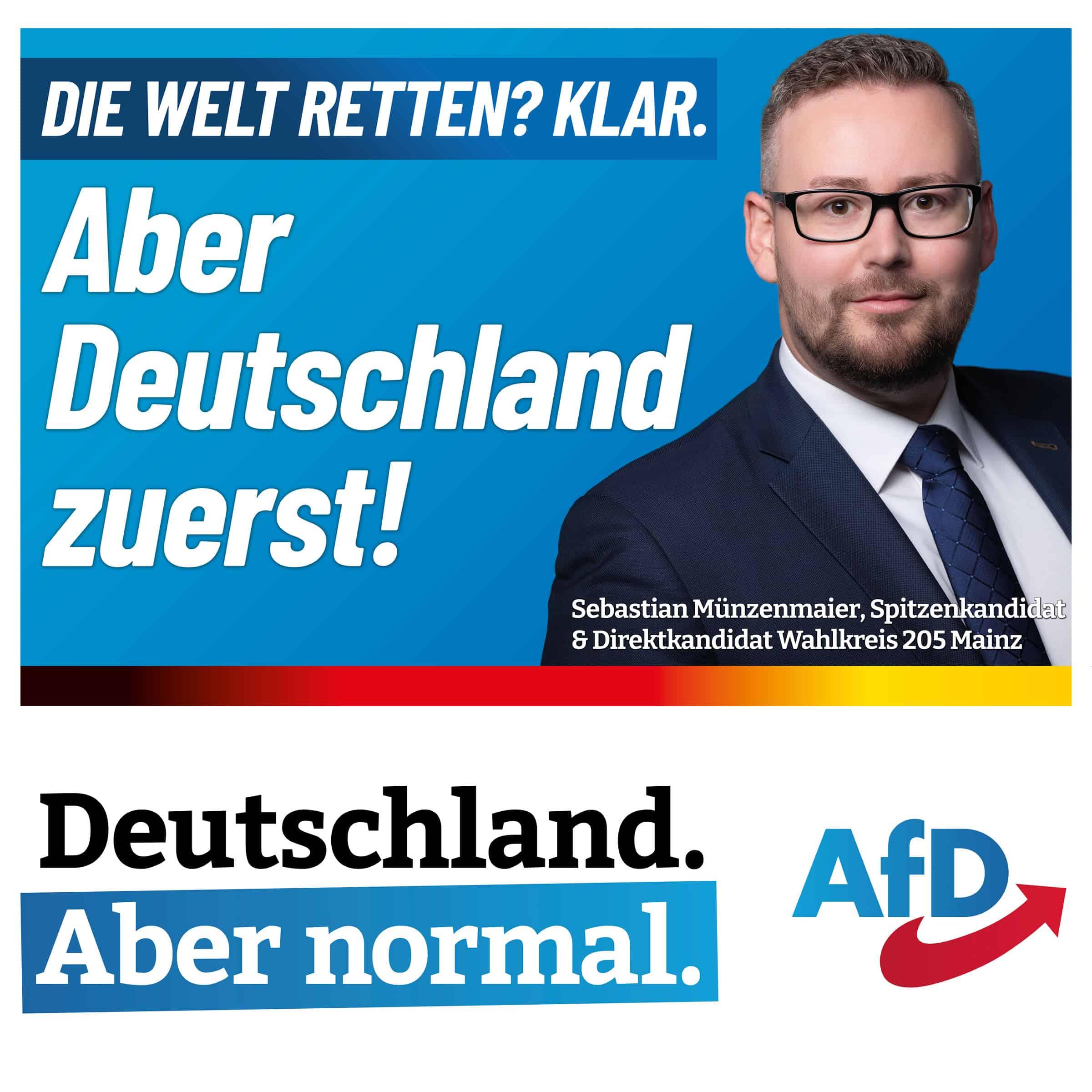 Die Welt retten? Klar. Aber Deutschland zuerst!