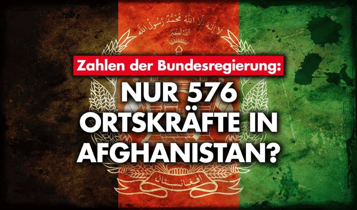 Zahlen der Bundesregierung: Nur 576 Ortskräfte in Afghanistan?